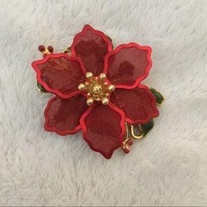 Jewelry - Poinsettia Pin
